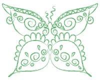 Borboleta verde Imagem de Stock