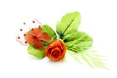Borboleta vermelha na flor fotos de stock