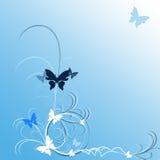 Borboletas azuis Fotos de Stock Royalty Free