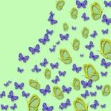 Borboletas brilhantes bonitas ilustração stock