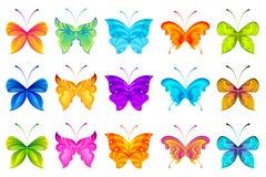 Borboletas coloridas Imagens de Stock Royalty Free