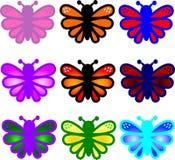 Borboletas coloridas Foto de Stock Royalty Free