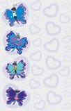 Borboletas coloridas abstratas ilustração stock