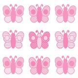 Borboletas cor-de-rosa Imagem de Stock