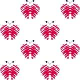 Borboletas cor-de-rosa do teste padrão Fotografia de Stock