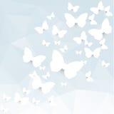 Borboletas de papel Imagens de Stock
