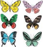 borboletas do doodle ilustração stock