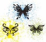 Borboletas do tatuagem Imagem de Stock Royalty Free