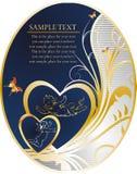 Borboletas e coração Fotografia de Stock Royalty Free