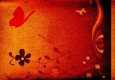 Borboletas e flores Ilustração Royalty Free
