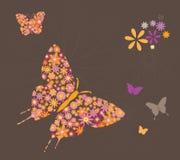 Borboletas e flores Imagem de Stock Royalty Free