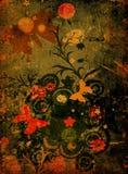 Borboletas e flores Fotografia de Stock