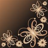 Borboletas e flores Fotos de Stock Royalty Free