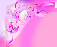 Borboletas e flores - canto esquerdo superior Imagens de Stock Royalty Free