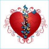 Borboletas no coração ilustração stock