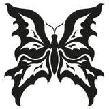 Borboletas preto e branco. Projeto da tatuagem. Vetor  Fotos de Stock Royalty Free