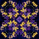 borboletas Teste padrão calidoscópico sem emenda Fotos de Stock Royalty Free