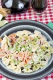 Borboletas tricolor com ervilhas e presunto Fotos de Stock