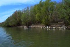 Borcea brzeg wczesna wiosna 1 Zdjęcia Stock