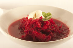 Borch soup. Made of beetroot and other vegetables Stock Photos