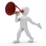 Borco old megaphone Royalty Free Stock Images