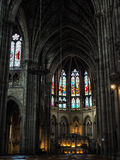 BORDÉUS, GIRONDE/FRANCE - 19 DE SETEMBRO: Interior da igreja Imagens de Stock