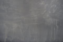 Bord (bord) textuur. Leeg leeg zwart bord met krijtsporen stock foto's