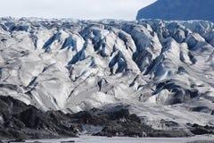 Bord d'un glacier en Islande Images libres de droits
