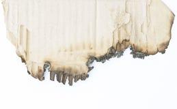 Bord de brûlure de papier Photos stock