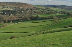 Bord de Froggatt et la vallée d'espoir, Angleterre Photos stock