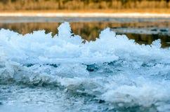 Bord de glace. Image libre de droits