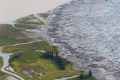 Bord de glacier, Juneau, Alaska Photo stock
