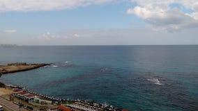 Bord de la mer à l'Alexandrie Image libre de droits