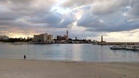 Bord de la mer à l'Alexandrie Photo stock