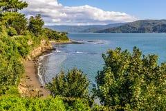 Bord de la mer à Niebla, Valdivia, Chili Images libres de droits