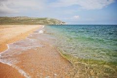 Bord de la mer arénacé abandonné Paysage de mer Images libres de droits