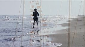 Bord de la mer, collage banque de vidéos