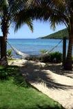 bord de la mer d'hamac tropical Photo stock