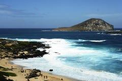 Bord de la mer d'Hawaï images libres de droits
