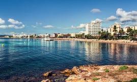 Bord de la mer d'Ibiza Photographie stock
