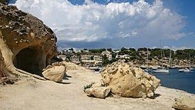 Bord de la mer dans les portails Vells Majorque Images libres de droits