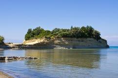 Bord de la mer dans Sidari sur l'île de Corfou, Grèce Images stock