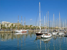 Bord de la mer de Barcelone Image stock