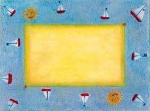 bord de la mer de cadre Photo stock