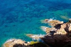 Bord de la mer de Corse Photos stock