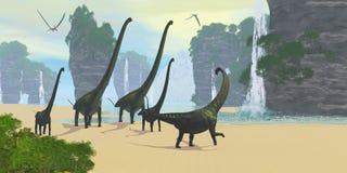 Bord de la mer de dinosaure illustration stock