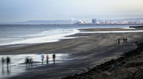 Bord de la mer de Hartlepool Images stock