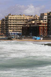 Bord de la mer de l'Alexandrie images libres de droits