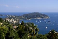 bord de la mer de la France de côte d'azur Photographie stock