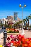 Bord de la mer de méditerranéen Alicante Photo libre de droits